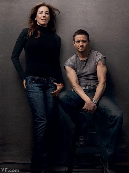 Kathryn Bigelow y Jeremy Renner