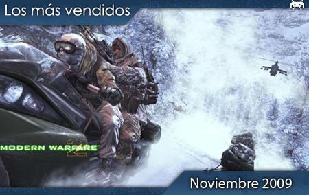 Los juegos más vendidos en España. Noviembre 2009