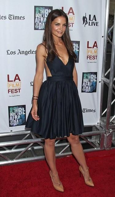 Katie Holmes en estado puro, ¡arriba el estilo ladylike!