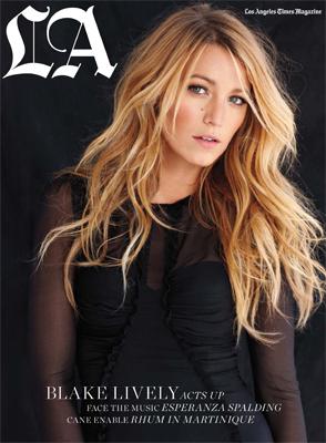 Belleza innata la de Blake Lively en la portada de LA Times Magazine