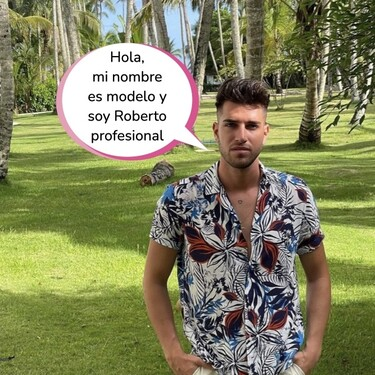 Lo que no sabías de Roberto, el novio de Andrea Gasca en 'La Última Tentación': un modelo sin muchas luces