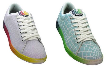 Sneakers de Lacoste que cambian de color