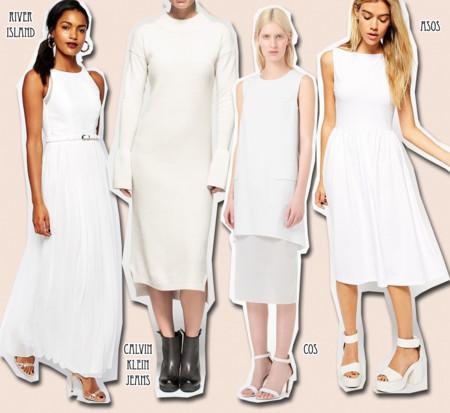 vestidos blancos moda