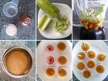 Preparación paletas heladas con chile