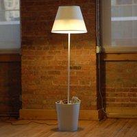 Una lámpara papelera