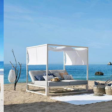 Camas de baldaquino, sillones colgantes y tumbonas, los mejores muebles de playa de Maisons du Monde para este verano 2019