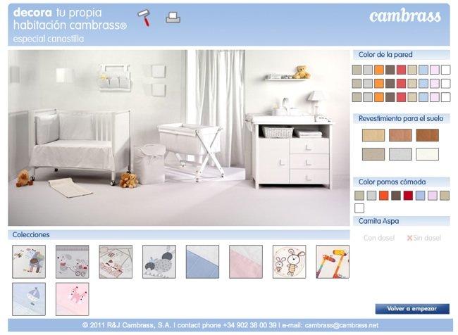 Habitaciones personalizadas para beb con cambrass for Programa decoracion habitaciones