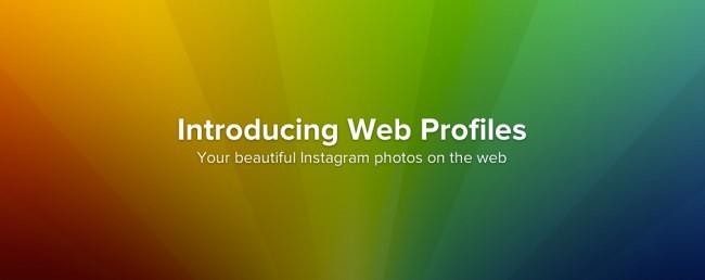 Analisis del lanzamiento de los perfiles web de Instagram