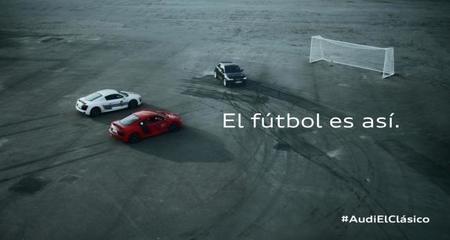 Porque el clásico entre el FC Barcelona y Real Madrid CF también se juega con los Audi R8