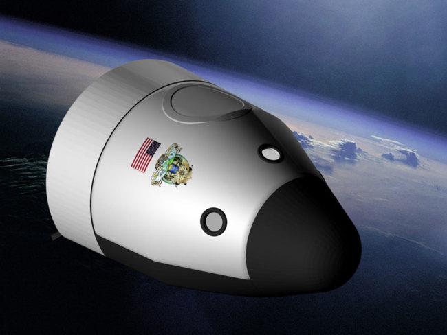 Crew Capsul In Orbit