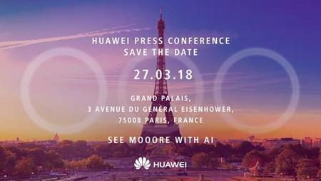 La invitación del evento de Huawei da pistas sobre la triple cámara de los P20 y P20 Plus