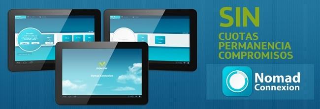 Movistar lanza Nomad Connexion, un nuevo servicio de Internet 3G para tablets para usuarios esporadicos