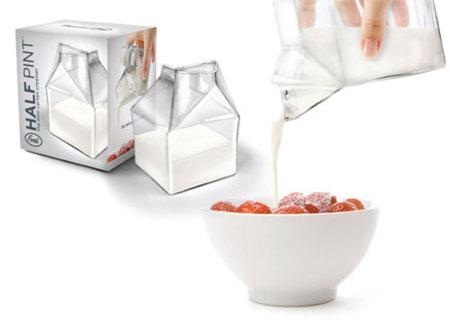 Half Pint, leche en brick de cristal