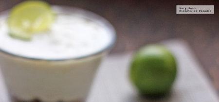 Cheesecakes de limón sin horno. Receta sin gluten y sin azúcar