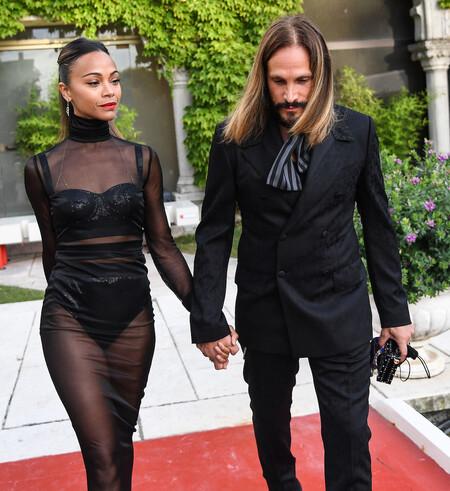 Zoe Saldana Dolce Gabbana Hc Venice