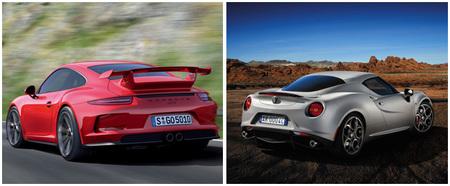 Porsche 911 GT3 y Alfa Romeo 4C