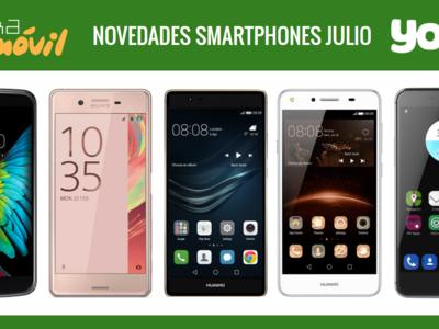 Precios Huawei P9 Plus, Huawei Y5 II, Sony Xperia XA, ZTE Blade V7, LG K10 y Wolder Wiam #23 con Yoigo