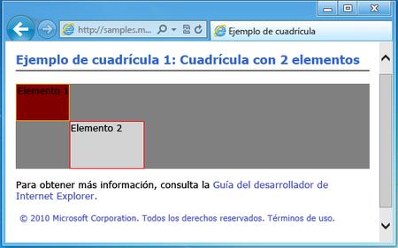 Cuadricula CSS IE