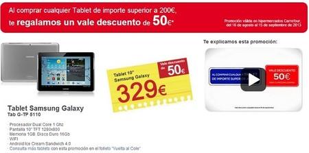 50 euros de descuento en Carrefour si compras una tablet de más de 200