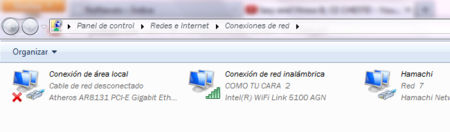 Conexiones de red en Windows