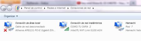 Conexiones de red en Windows