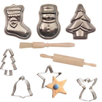 Moldes para hacer galletas con motivos navideños