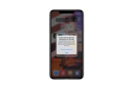 iOS 13 avisará a los usuarios al borrar una app con suscripción activa para mantenerla o cancelarla también
