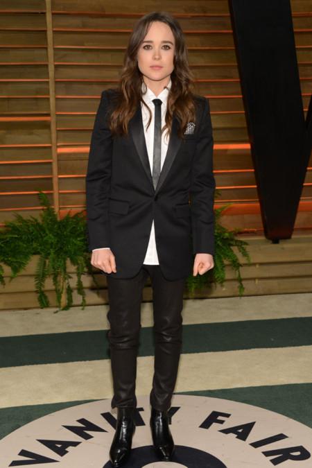 Ellen Page traje Saint Laurent