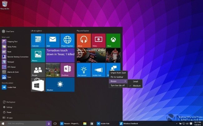 Windows10 Start Menu 10170