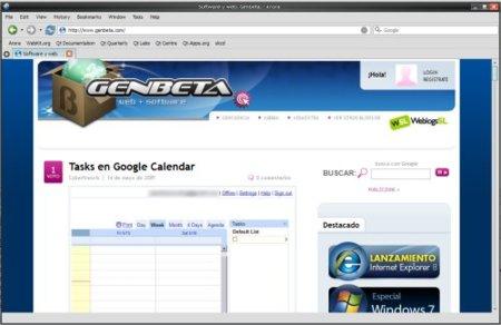 Arora, un navegador sencillo, ligero y multiplataforma