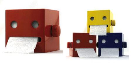 Robot dispensador de toallitas de papel