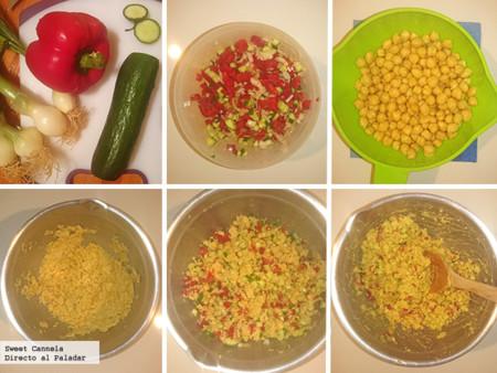 Preparacion Ensalada Garbanzos