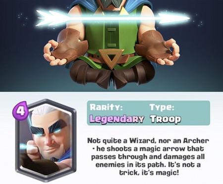 Arquero Mágico: las estadísticas, daño y ataques de la nueva legendaria de Clash Royale