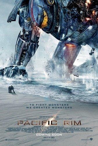 Imagen con el cartel de la película 'Pacific Rim'