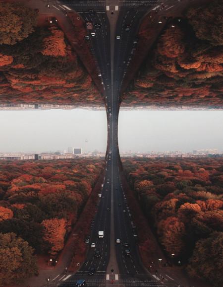 Manipulando escenarios para crear paisajes imposibles basados en sueños