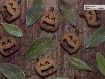 Galletas de calabaza. Receta de Halloween