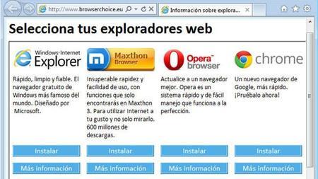Microsoft ya no tendrá que seguir anunciando a otros navegadores en Windows en la Unión Europea