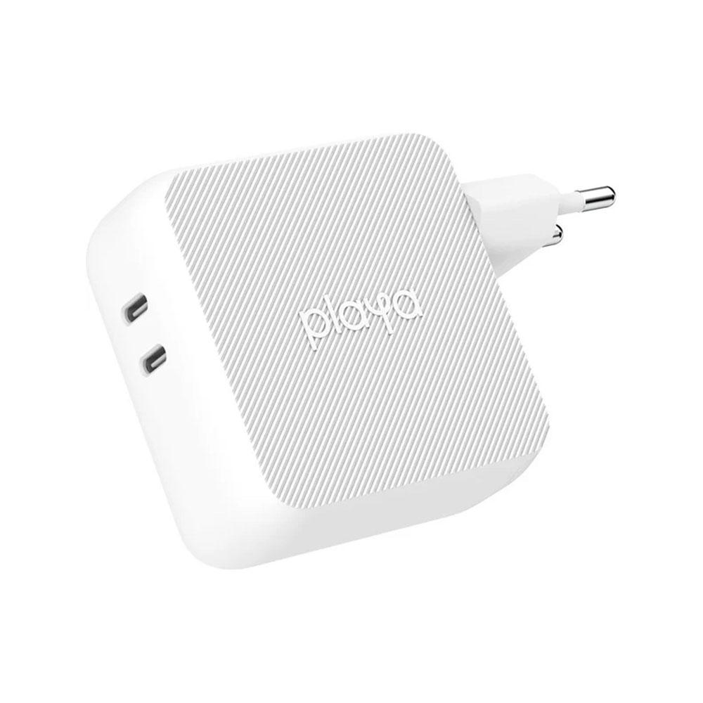 Belkin Playa Cargador pared doble GaN 68W USB-C Blanco - PP0005vfC2