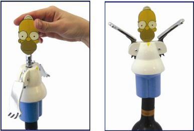 Sacacorchos de Homer