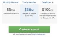 App.net cambia sus planes de precios: 5 dólares mensuales o 36 dólares anuales para los nuevos usuarios