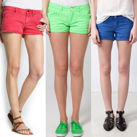 shorts con color