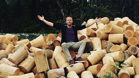 Rockit Log Speaker Designboom 05