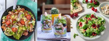 Paseo por la gastronomía de la red: 15 recetas de ensaladas variadas para no aburrirnos en verano