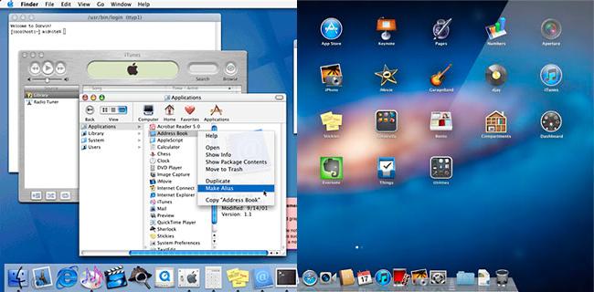 Evolución de Mac OS X