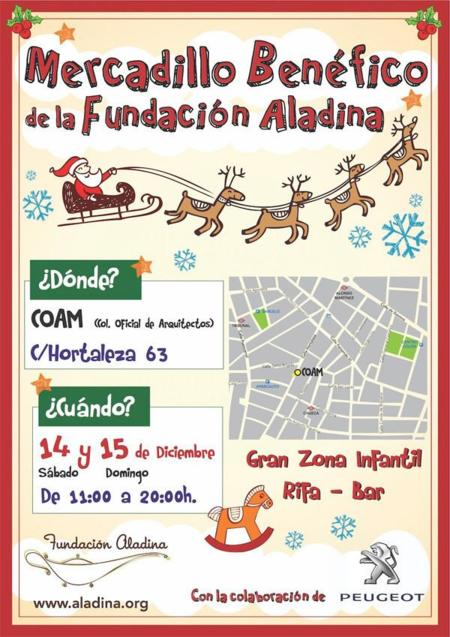 Cartel Mercadillo Benefico Fundacion Aladina