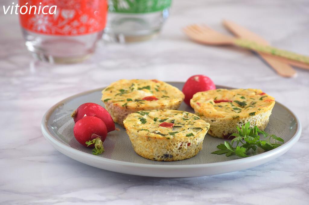 Mini frittatas de claras con verduras: receta saludable para un desayuno proteico (o cualquier momento del día)