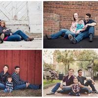 A pesar de estar divorciados, cada año se toman una foto familiar con su hijo