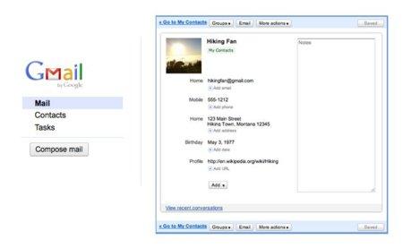 Google actualiza Gmail Contacts y la interfaz de Gmail