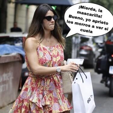 La pillada a Laura Matamoros sin mascarilla por la que han saltado todas las alarmas ¡Policías de balcón, arrestadla!