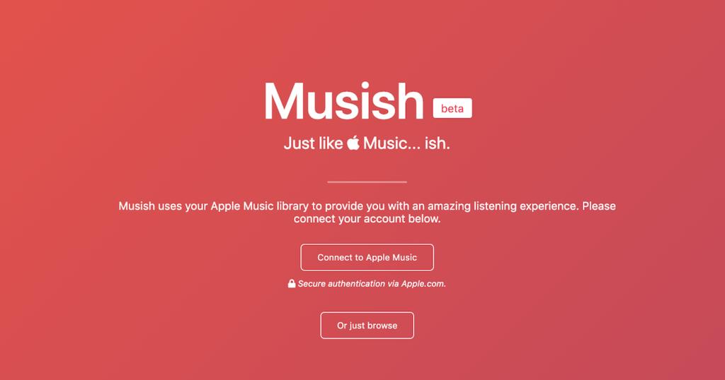 Musish, un interesante reproductor web no oficial para Apple Music